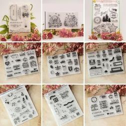 DIY Transparent Silicone Rubber Clear Stamps Scrapbooking De