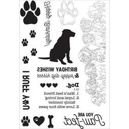 DOG Pawfect Collection Clear Unmounted Rubber Stamp Set Kais