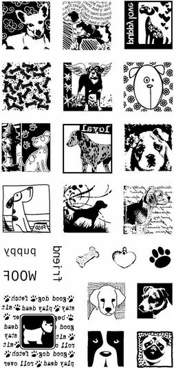 Dogs Life Inchies Clear Acrylic Stamp Set by Inkadinkado 987