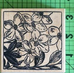 Dogwood Flower rubber stamp by Magenta