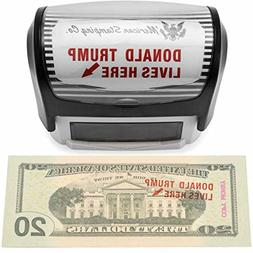Donald Trump Lives Here Stamp, Self Inking Rubber Stamp - ON