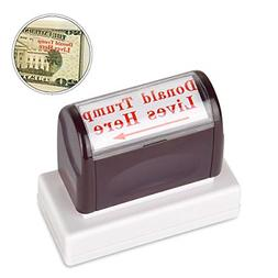 innissunny Donald Trump Lives Here Stamp,Self Inking Rubber