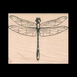 DRAGONFLY Rubber Stamp Outlines - Stamp & Fill With Color St