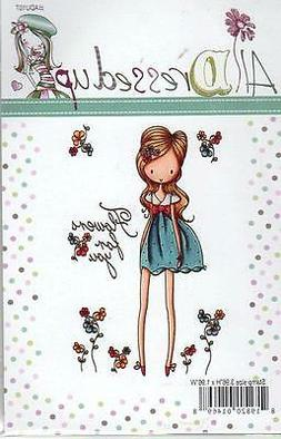 """All Dressed Up Cling Stamp 4""""X7""""-Flowers For You"""