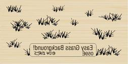 Easy Grass Background Rubber Stamp By DRS Designs