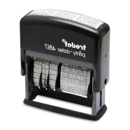 Trodat Economy 12-Message Stamp, Dater, Self-Inking, 3/8 x 2