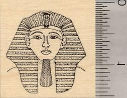 Egyptian King Tut Rubber Stamp, Pharaoh Tutankhamun
