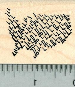 Election Rubber Stamp, United States of America Voting, Vote