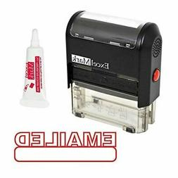 EMAILED Self Inking Rubber Stamp - Red Ink