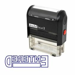 ENTERED - ExcelMark Self-Inking Rubber Stamp - A1539 Blue In