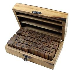 Lost Ocean 70pcs/Set Wooden Box Multipurpose Number Alphabet