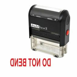 DO NOT BEND - ExcelMark Self Inking Rubber Stamp A1539 - Red
