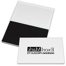 ExcelMark Extra Large Black Ink Pad for Rubber Stamps | 4-1/
