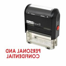 ExcelMark PERSONAL AND CONFIDENTIAL Self Inking Rubber Stamp