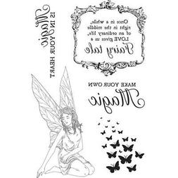 FAIRY GARDEN Collection Clear Unmounted Rubber Stamp Set Kai