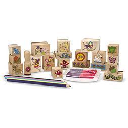Fairy Garden: Stamp-a-Scene Wooden Stamp Set