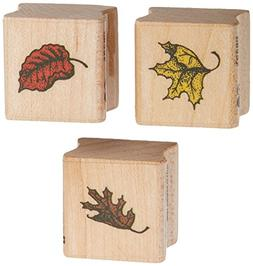 fall leaves wood stamp set