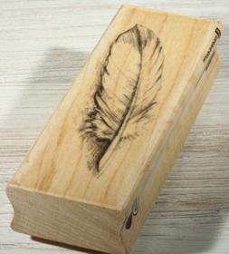 Inkadinkado Large Feather Wood Stamp For Scrapbooking, 1 Pie