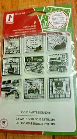 Festive Holiday Inches  Christmas Rubber Stamps  Inkadinkado