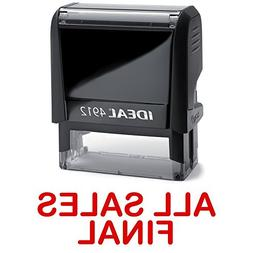 ALL SALES FINAL Red Stock Self-Inking Rubber Stamp