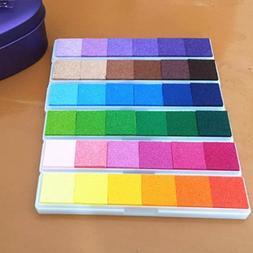 Fingerprint Ink Pad for Rubber Stamps Scrapbook Colorful Ink