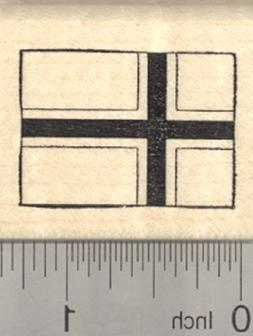 Flag of Norway Rubber Stamp, Scandinavian cross outlined in