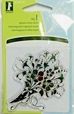 Floral Bouquet  unmounted Acrylic  Stamp by Inkadinkado NIP