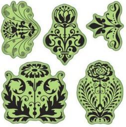 Inkadinkado Floral Damask Cling Stamps