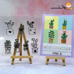 Kokorosa Flower and Cactus Clear <font><b>Stamps</b></font>
