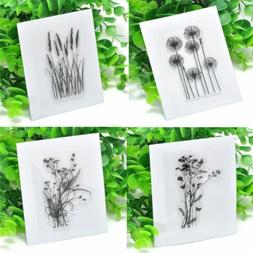 Flower Grass Transparent DIY Silicone Clear Rubber Stamp She