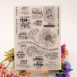 Flower Silicone Clear Stamp Transparent Rubber Stamps DIY Sc