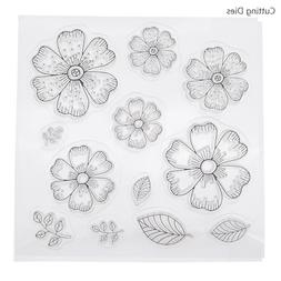 Flowers Leaves Petals Transparent Clear <font><b>Stamps</b><