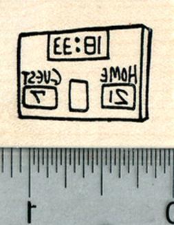 Football Scoreboard Rubber Stamp, Size Small D31004 WM
