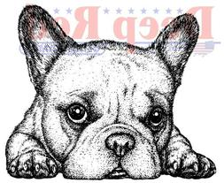 Deep Red Stamps French Bulldog Rubber Cling Stamp