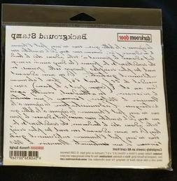 Darkroom Door French Script Background Script Rubber Stamp