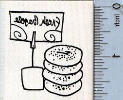 Fresh Bagels Rubber Stamp, Jewish Bakery Series G35220 WM