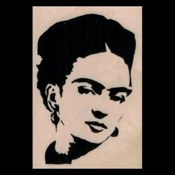 FRIDA KAHLO Rubber Stamp Frida Silhouette Portrait Mexican A