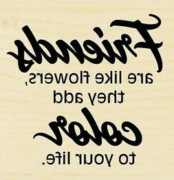 Friends Add Color Text STAMPENDOUS Wood Mounted Rubber Stamp
