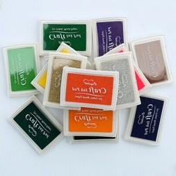 15 colors large rubber stamp craft ink