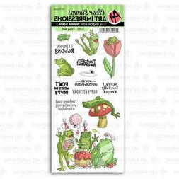 Art Impressions Funny Farm Clear Stamps Frog 750810797286