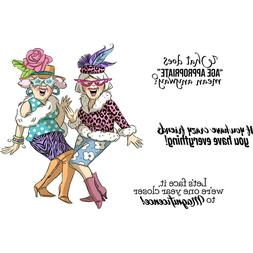 Art Impressions Girlfriends Cling Rubber Stamps -Crazy Frien