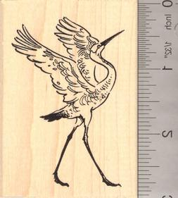 Great Blue Heron Bird Rubber Stamp