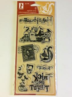 Inkadinkado Halloween Clear Stamp Set GOULS & GOBLINS NEW! F