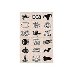 Hero Arts Rubber Stamps Halloween Ink and Stamp Set