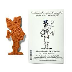 Halloween Rubber Stamp No Bones Skeleton Whipper Snapper Cli