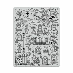 "Hero Arts ""HALLOWEEN SCENE"" Background Cling Rubber Stamp 20"