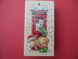 Penny Black Hand-Mailed Bear & Hedgehog Christmas Holiday Le