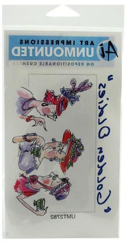 Art Impressions Hatta Girls Rubber Stamp