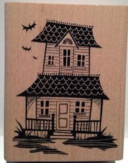 Inkadinkado - Haunted House - 95802-M - Wood Mounted Rubber