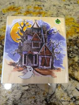Art Impressions - Haunted House Rubber Stamp